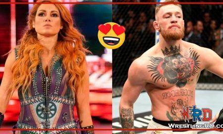 Becky Lynch se burla de la aparición de Conor McGregor