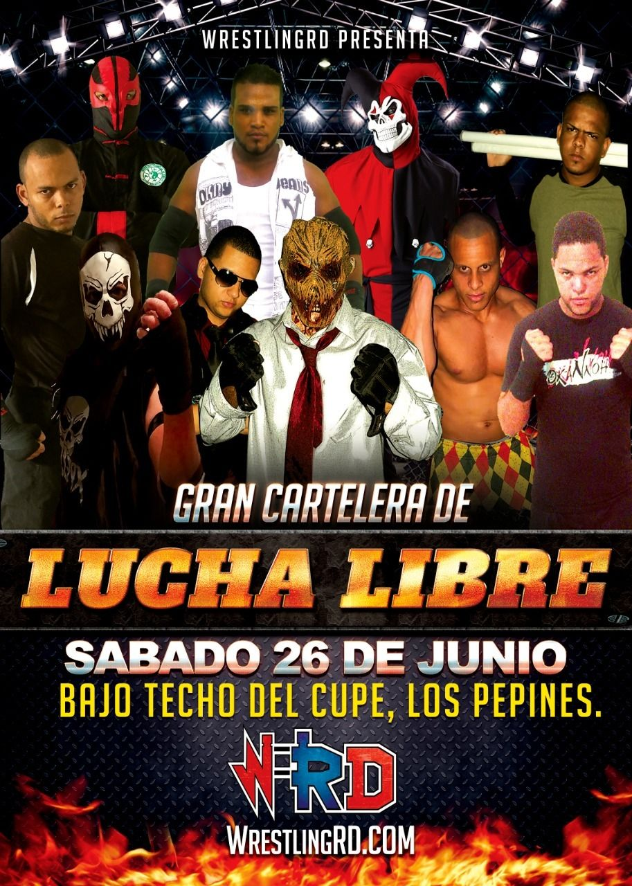 cartelera de lucha libre en los pepines santiago