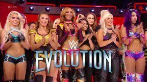 evolution wwe roster