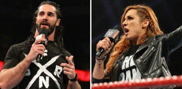 Seth Rollins y Becky Lynch