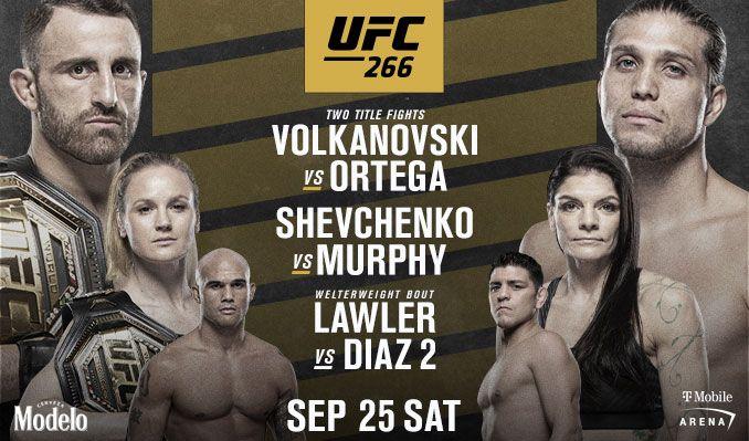 VER UFC 266 en vivo